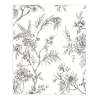 A-Street Prints Jessamine Floral Trail Wallpaper in Grey