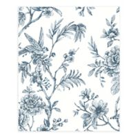 A-Street Prints Jessamine Floral Trail Wallpaper in Blue