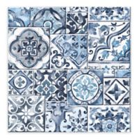 A-Street Prints Marrakesh Tile Wallpaper in Blue