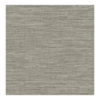 A-street Prints Exhale Faux Grasscloth Wallpaper in Grey