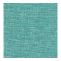 A-street Prints Exhale Faux Grasscloth Wallpaper in Teal