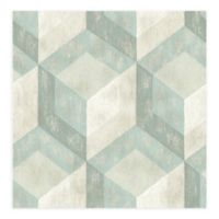 A-Street Prints Rustic Wood Tile Wallpaper in Cream