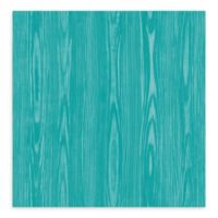 A-Street Prints Illusion Faux Wood Wallpaper in Aqua