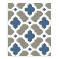 A-Street Prints Lido Quatrefoil Wallpaper in Navy
