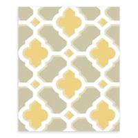 A-Street Prints Lido Quatrefoil Wallpaper in Mustard