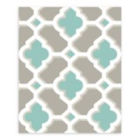 A-Street Prints Lido Quatrefoil Wallpaper in Turquoise