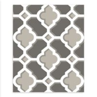 A-Street Prints Lido Quatrefoil Wallpaper in Grey