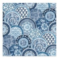 A-Street Prints Laguna Plate Wallpaper in Blue