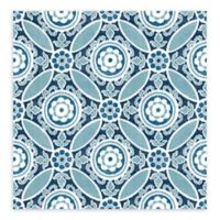 A-Street Prints Maya Medallion Wallpaper in Blue