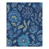 A-Street Prints Tropez Jacobean Wallpaper in Navy