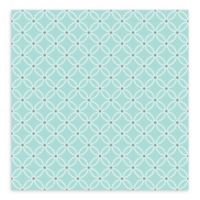A-Street Prints Kinetic Geometric Floral Wallpaper in Turquoise