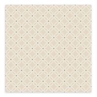 A-Street Prints Kinetic Geometric Floral Wallpaper in Beige