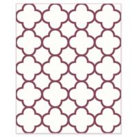 A-Street Prints Origin Quatrefoil Wallpaper in Burgundy