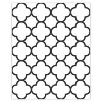 A-Street Prints Origin Quatrefoil Wallpaper in Black