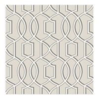 A-Street Prints Quantum Trellis Wallpaper in Grey