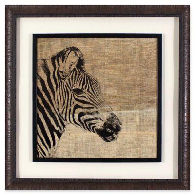 Décor Therapy Safari Zebra 27 Inch Square Framed Wall Art
