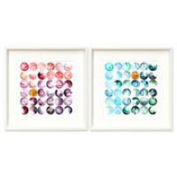 Stylecraft Home Thirty-Six Orbs 18-Inch Square Framed Wall Art (Set of 2)