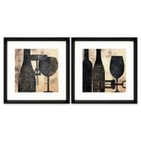 Stylecraft Home Shadowy Kitchen 18-Inch Square Framed Wall Art (Set of 2)