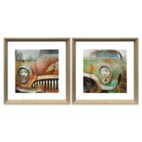 Stylecraft Home Old Rusty 18-Inch Square Framed Wall Art (Set of 2)