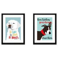 Dog Inspiration 2-Piece Framed Wall Art