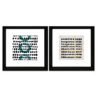 StyleCraft Black Mark Framed Wall Art (Set of 2)