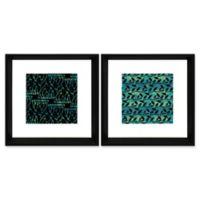 Vines 18-Inch Square Framed Wall Art (Set of 2)