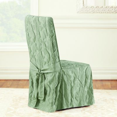 Sure Fit® Matelasse Damask Dining Room Chair Cover in Sage & Buy Damask Chair Covers | Bed Bath u0026 Beyond