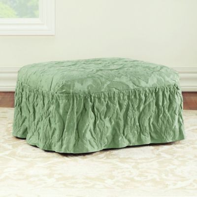 makeover cut ottoman less fabric than again slipcover life an of perfect how sm to