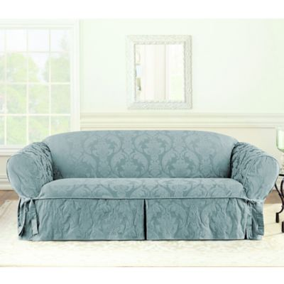 buy sure fit sofa covers bed bath beyond rh bedbathandbeyond com sure fit sofa cover 3 piece sure fit sofa cover video