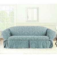 Sure Fit Matele Damask Sofa Cover In Blue