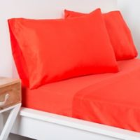 Crayola® Microfiber Full Sheet Set in Orange