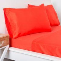 Crayola® Microfiber Queen Sheet Set in Orange