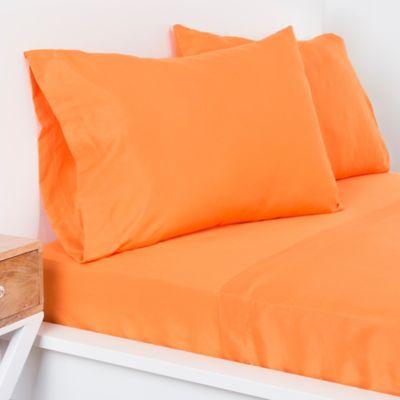 Crayola® Microfiber Full Sheet Set In Dark Orange