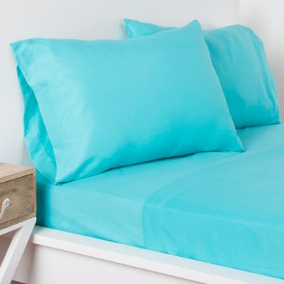 Crayola® Microfiber Full Sheet Set In Turquoise