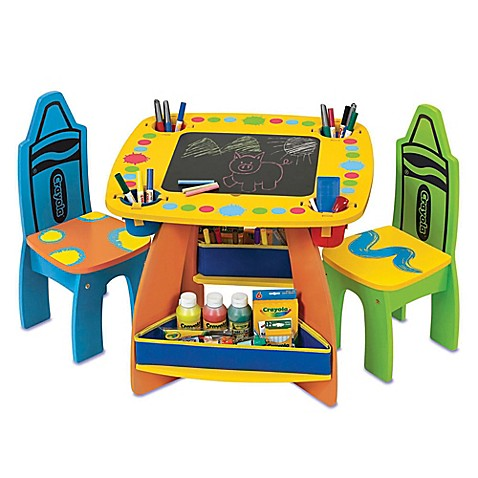 Crayola 174 Grow N Up Wooden Table And Chair Set Buybuy Baby
