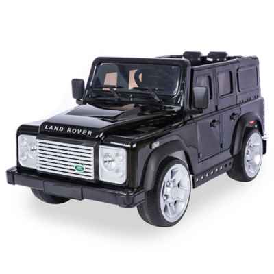 Land Rover Defender SUV 12V Ride-On in Black