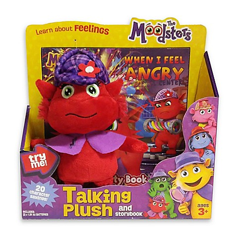 The Moodsters™ Talking Razzy Plush Toy with Activity Book
