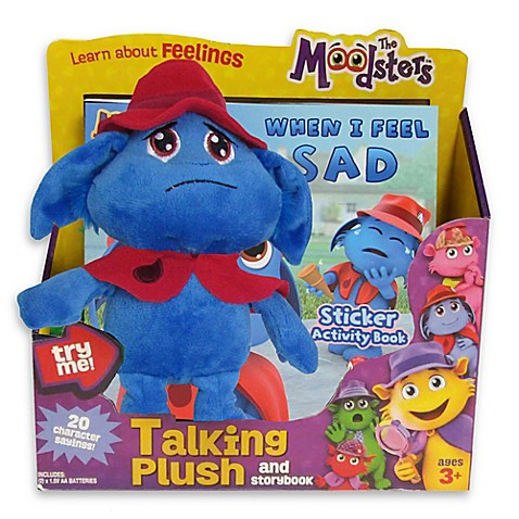 The Moodsters™ Talking Snorf Plush Toy with Activity Book