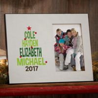 Christmas Tree Family Picture Frame