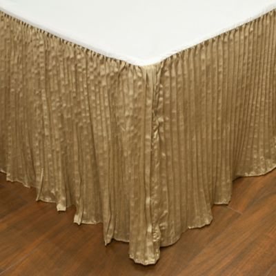 Austin Horn Classics Paradise Peacock California King Bed Skirt In  Brown/Coral