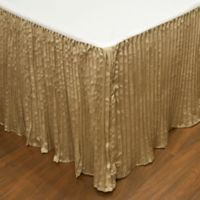 Austin Horn Classics Paradise Peacock King Bed Skirt in Brown/Coral