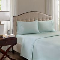 Madison Park 1500-Thread-Count Standard Pillowcase in Seafoam