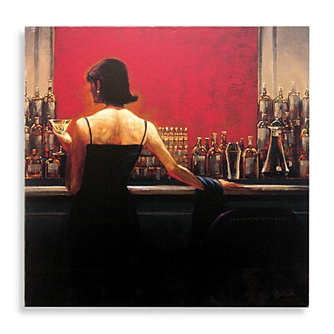 cigar bar woman canvas wall art - bed bath & beyond
