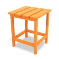 POLYWOOD® Long Island 18-Inch Side Table in Tangerine