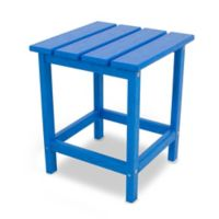 POLYWOOD® Long Island 18-Inch Side Table in Pacific Blue