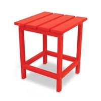 POLYWOOD® Long Island 18-Inch Side Table in Sunset Red