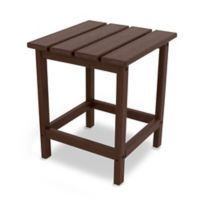 POLYWOOD® Long Island 18-Inch Side Table in Mahogany