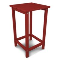 POLYWOOD® Long Island 26-Inch Counter Side Table in Sunset Red