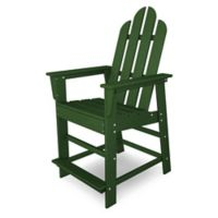 POLYWOOD® Long Island Counter Chair in Green