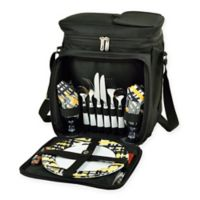 Picnic At Ascot™ Picnic Cooler with Service For 2 in Black/Yellow